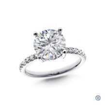 18kt white gold moissanite and diamond Engagement Ring