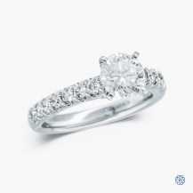 Gabriel and Co. 14k white gold 1.06ct diamond engagement ring