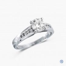 14k white gold 0.81ct diamond engagement ring