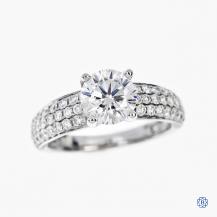 18k white gold 1.21ct moissanite engagement ring
