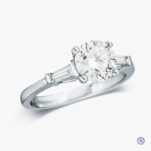 14k White Gold 1.23ct Three-Stone Diamond Engagement Ring