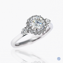 Gabriel & Co. 14kt White Gold 0.92ct Moissanite Engagement Ring
