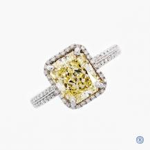 18k white gold 2.02ct fancy yellow diamond engagement ring