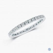 14k white gold diamond full eternity band
