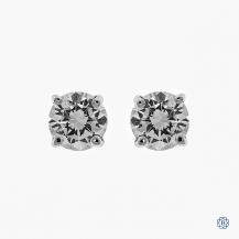 14kt White Gold 0.43ct Diamond Stud Earrings