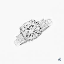 18kt white gold Simon G 1.50ct Diamond Engagement Ring