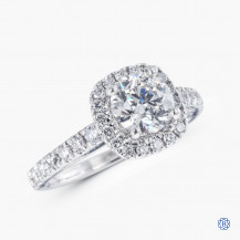 14k white gold 1.05ct Maple Leaf Diamond engagement ring