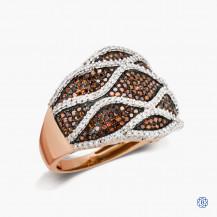 10k Rose and White Gold Diamond Fashion Ring