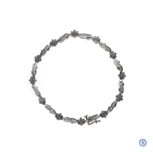 10kt white gold diamond bracelet