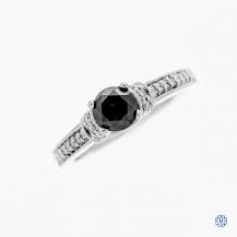 Scott Kay 19kt white gold 0.75 black diamond engagement ring