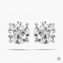 14k White Gold 0.72ct Diamond Stud Earrings