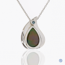 14k white gold and gemstone necklace