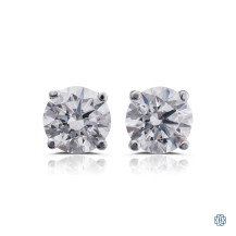 14kt white gold 1.00ct Swarovski Lab Created Diamond Stud Earrings