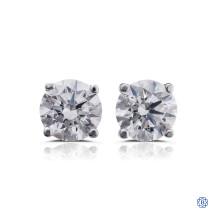 14kt white gold 1.02ct Swarovski Lab Created Diamond Stud Earrings