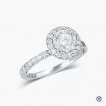 Tacori 18k White Gold 1.00ct Diamond Engagement Ring