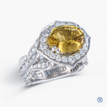 Tacori Platinum RoyalT 4.67ct chrysoberyl and Diamond engagement ring