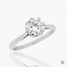 platinum 0.90ct moissanite solitaire engagement ring