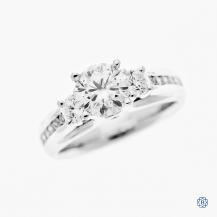 14k white gold 0.90ct moissanite engagement ring