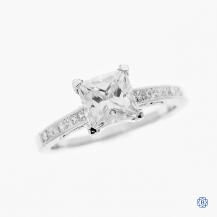 Tacori Simply Tacori Platinum Moissanite and Diamond Engagement Ring