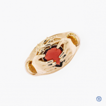 10k yellow gold garnet and ruby ring