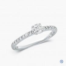 18kt white gold 0.25ct Maple Leaf Diamond engagement ring
