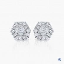 14kt white gold 0.60ct Maple Leaf Diamond Earrings