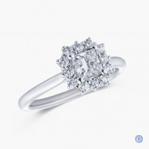 18kt white gold 0.51ct Maple Leaf Diamond Engagement Ring