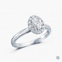 18kt White Gold 0.50ct Maple Leaf Diamond Engagement Ring