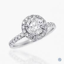 14kt white gold 1.37ct Maple Leaf Diamond Engagement Ring