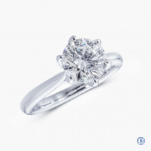 14kt White Gold 1.72ct Maple Leaf Diamond Engagement Ring