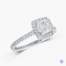 14kt white gold 1.00ct Maple Leaf Diamonds Engagement Ring