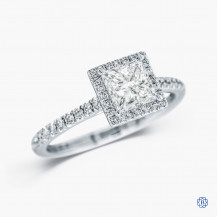 18kt white gold 1.05ct Maple LEaf Diamond Engagement Ring