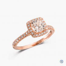 18kt rose gold 1.00ct Maple Leaf Diamond Engagement Ring