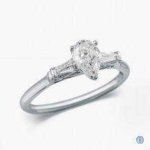 18kt white gold 0.57ct Maple Leaf Diamond Engagement Ring