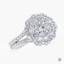 Platinum 0.52ct Maple Leaf Diamond Engagement Ring