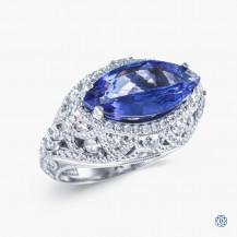 Tacori Platinum RoyalT 2.20ct Tanzanite Engagement Ring