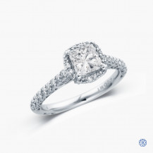 Tacori Petite Crescent platinum 1.01ct diamond engagement ring
