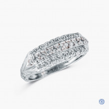 14kt white gold diamond ring