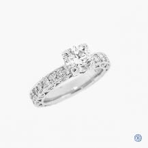 Tacori Classic Crescent platinum 1.04ct Lab Created diamond engagement ring