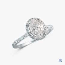 14kt white gold 1.19ct lab created diamond engagement ring