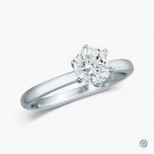 14k White Gold and 1.00ct Diamond Solitaire Engagement Ring