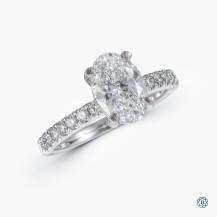 14k White Gold 1.42ct Swarovski Lab Created Diamond Solitaire Engagement Ring