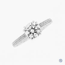Scott Kay 19k white gold 1.25ct lab grown diamond engagement ring