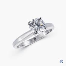 18kt White Gold 1.00ct Swarovski Lab Created Diamond Engagement Ring