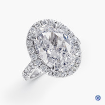 18kt White Gold 5.02cts Diamond Engagement Ring