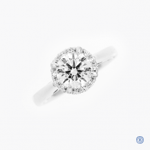 18kt white gold 1.40ct Lab Created Diamond engagement ring