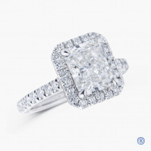 18kt white gold 2.21cts Swarovski Lab Grown Diamond Engagement Ring