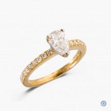 14k yellow and white gold 0.73ct diamond engagement ring