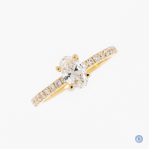 14k yellow and white gold 0.96ct diamond engagement ring