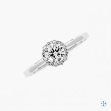 Tacori 18k white gold 0.51ct diamond engagement ring